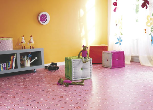 Kids Vinyl Flooring -Pink