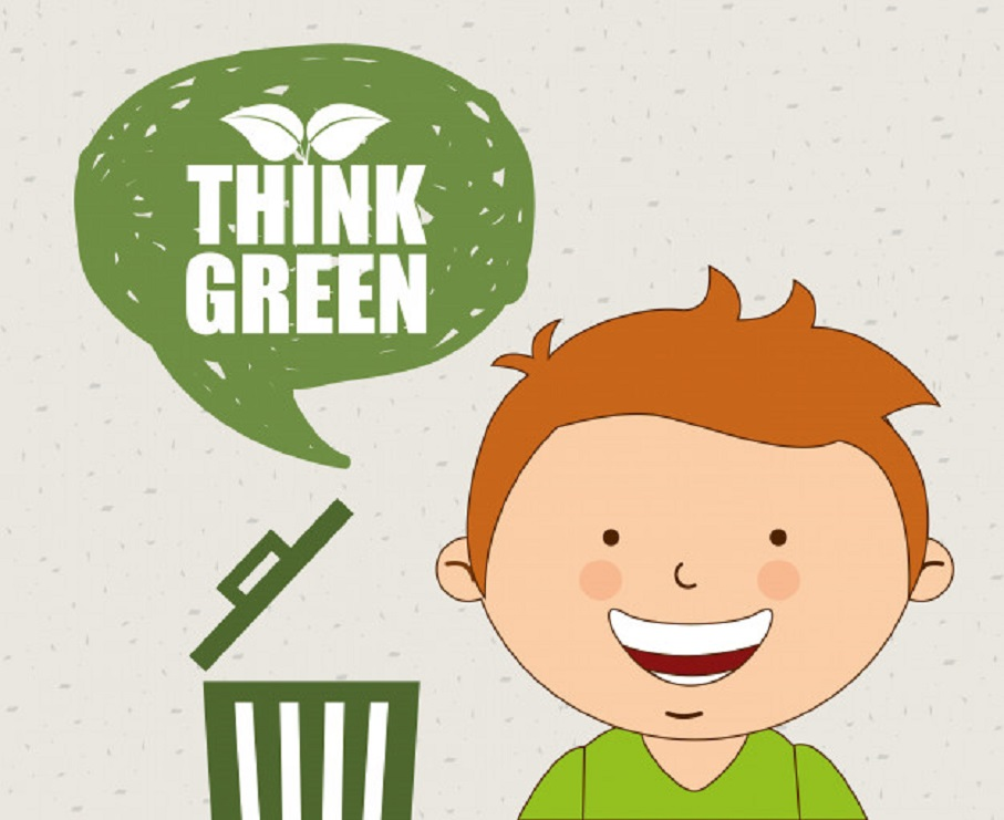 little kids are thinking green