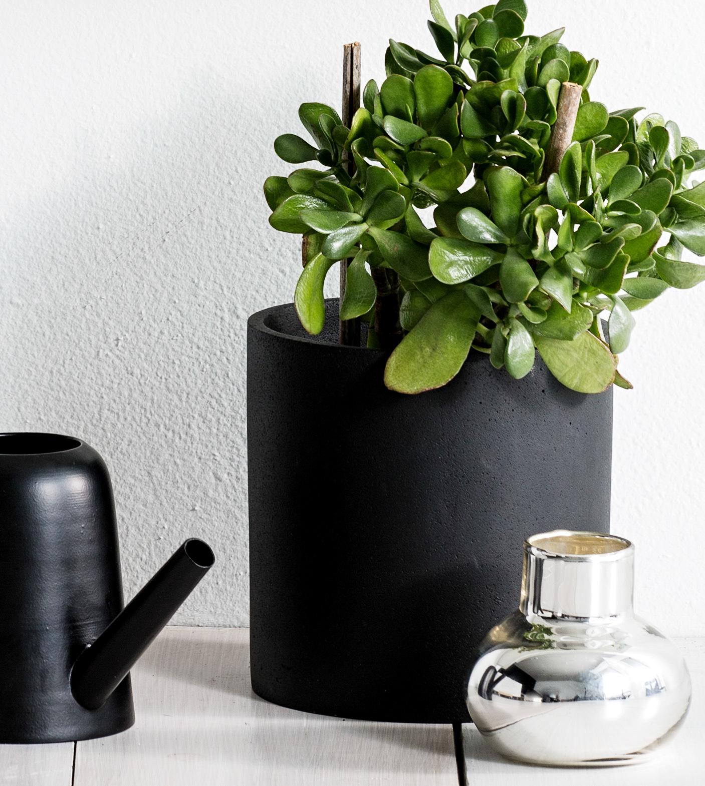 concrete pots black