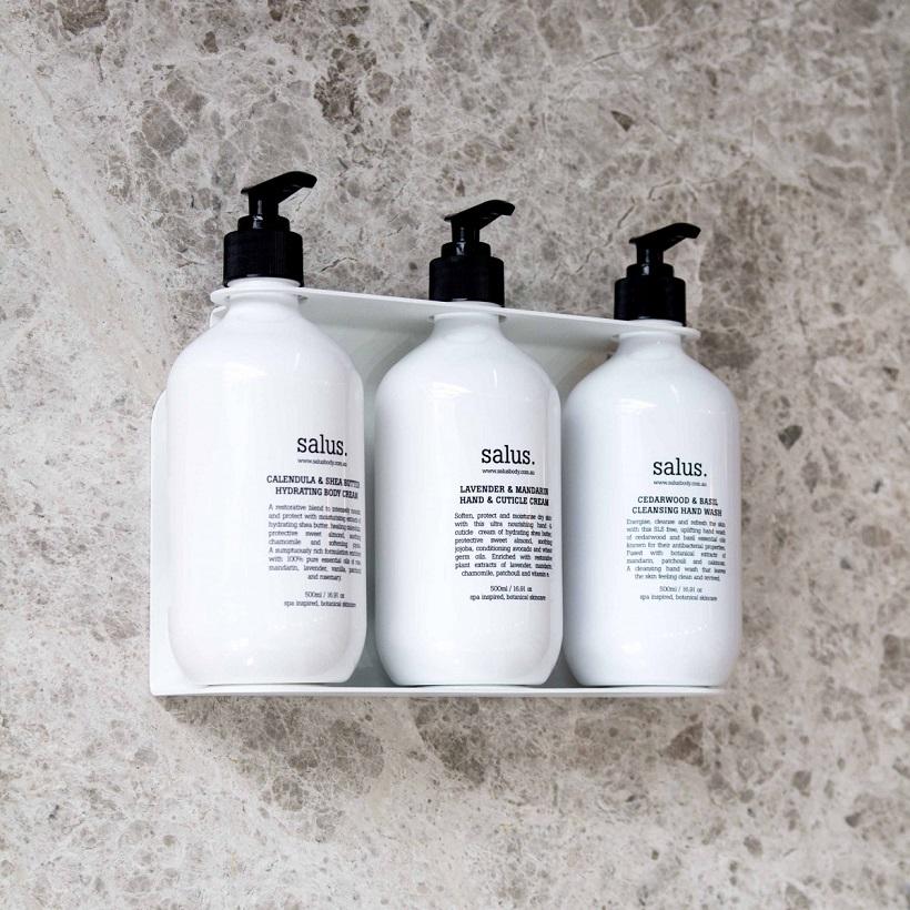 Soap Dispenser Holder for Three Bottles