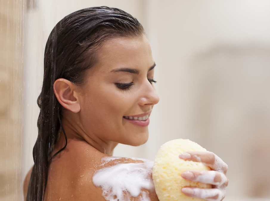 washing body with natural products