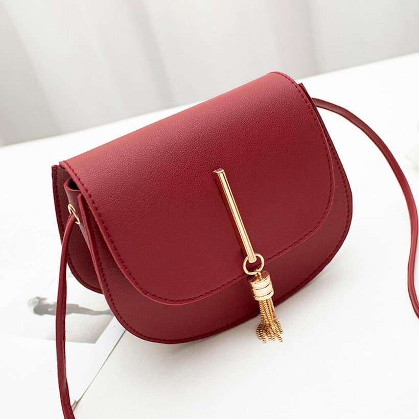 womens sling bag red