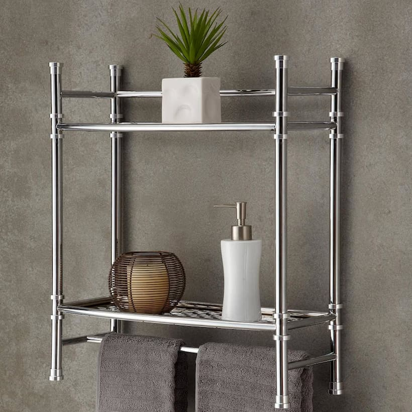 practical and stylish bathroom shelf