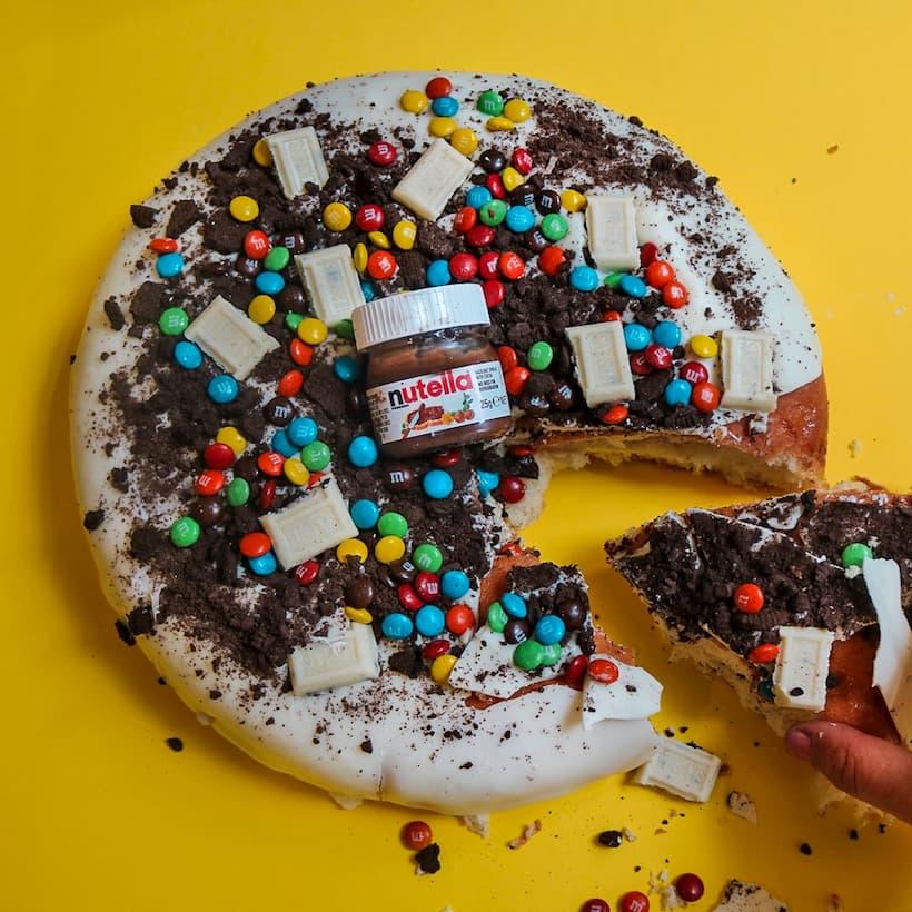 cookie cake nutela