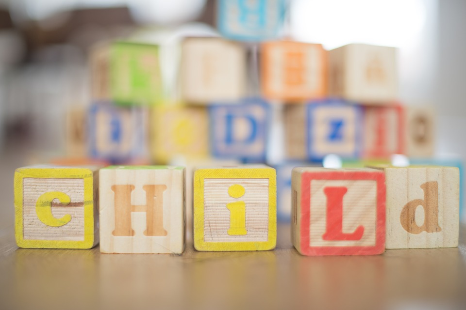 child wooden cube