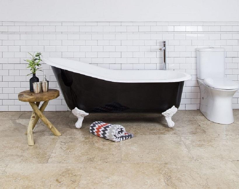 Black Cast Iron bath clawfoot bathtubs