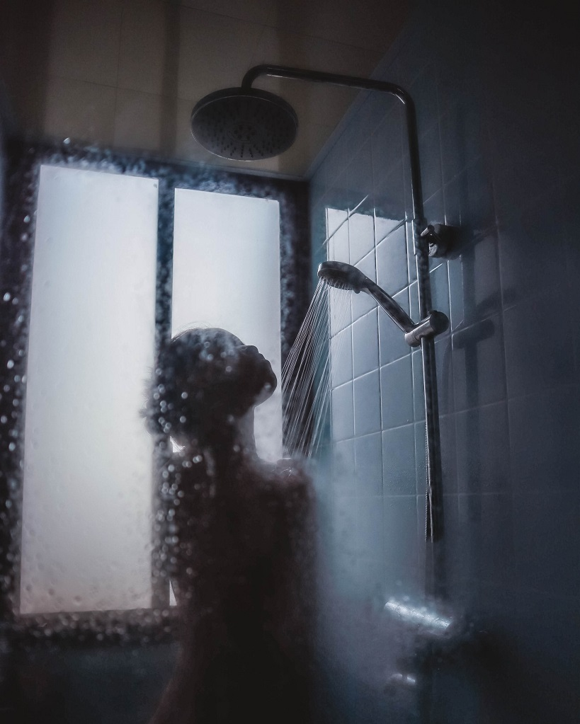 picture of a person in a steamy shower