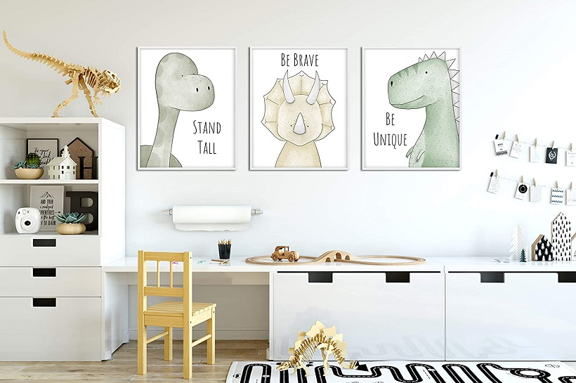 Colourful nursery posters