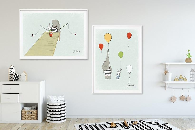 Posters in nursery room