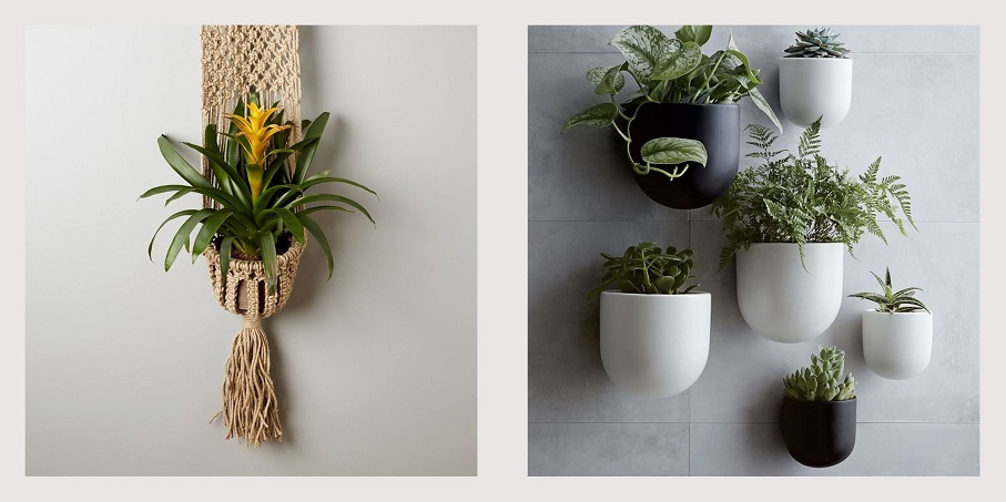 Wood and Ceramic Garden Planters